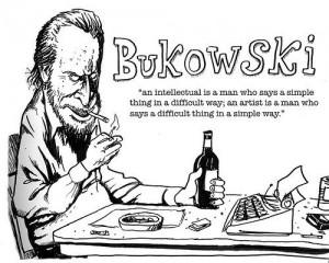 Bukowski Quote Drawing