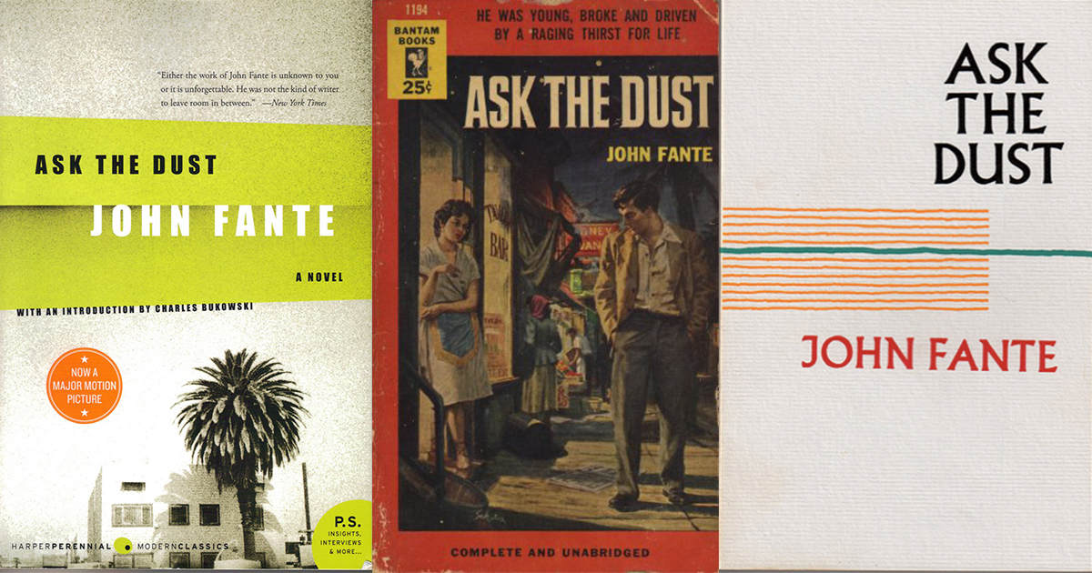 Charles Bukowski Introduction to the John Fante Novel Ask the Dust