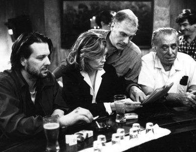 "Watch behind-the-scenes documentary ""I Drink, I Gamble and I Write: The Making of Barfly"""