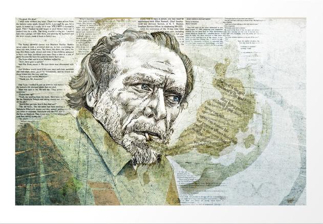 Charles Bukowski drawing
